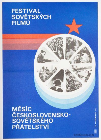 Cinema Poster, Festival of Soviet Films, Alena Hubickova