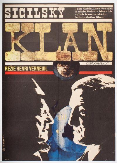 Movie Poster, The Sicilian Clan, Eva Vajce
