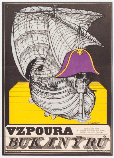 Movie Poster, Pirates of Blood Island, Karel Machalek