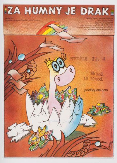 Movie Poster, Dragon in Village Backyards, Stanislav Holy