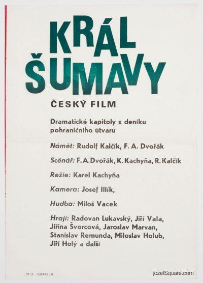 70s Movie Poster, Smugglers of Death, Karel Kachyna
