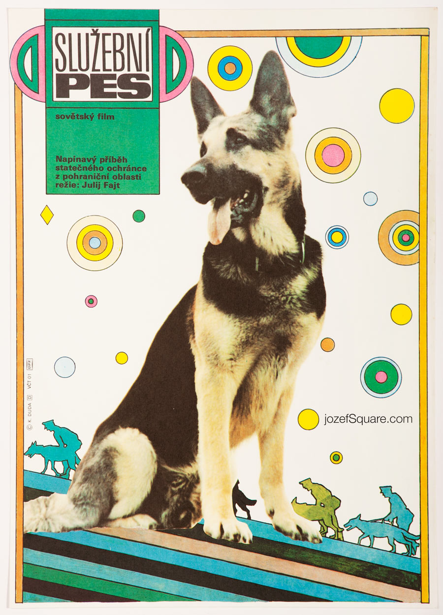 Movie Poster, Border Dog Alyi, 80s Cinema Art
