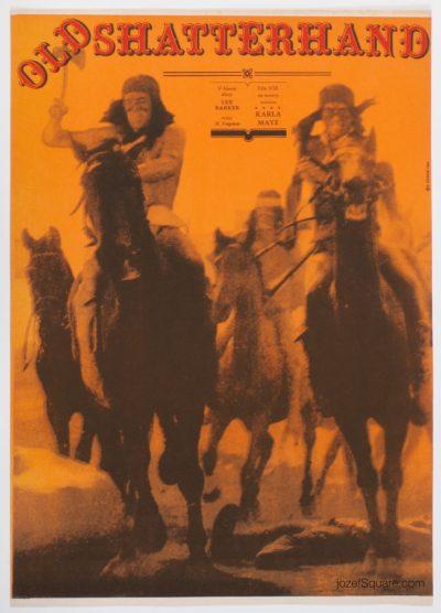 Western Movie Poster, Old Shatterhand, Zdenek Ziegler
