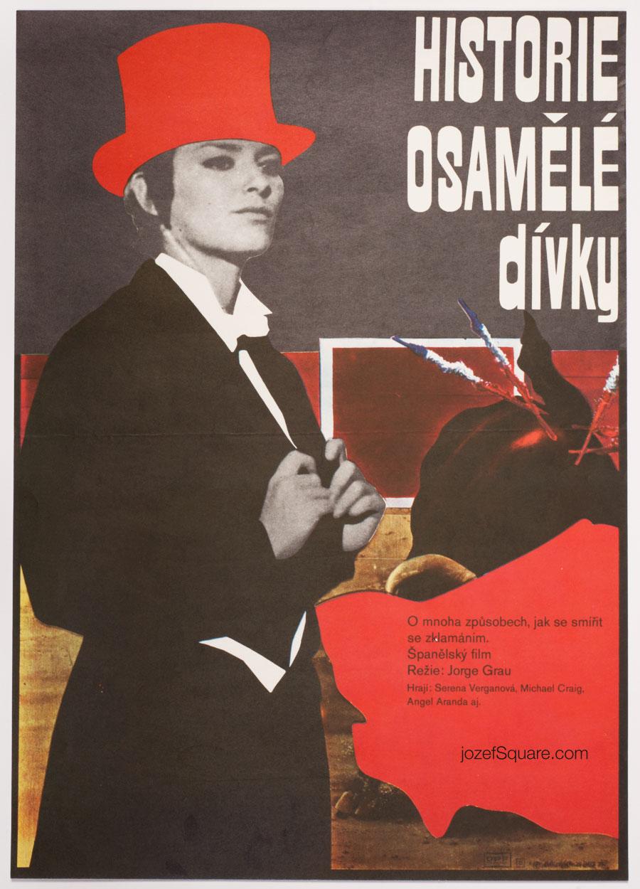 Movie Poster, Story of Girl Alone, Adam Hoffmeister, 70s Cinema Art