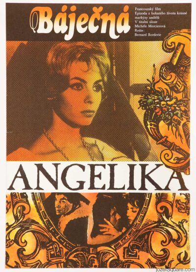 Movie Poster, Marvellous Angelique, Jan Jiskra, 80s Cinema Art