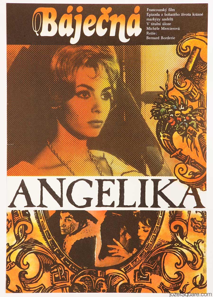 Movie Poster, Marvellous Angelique, Jan Jiskra, 80s Cinema Art