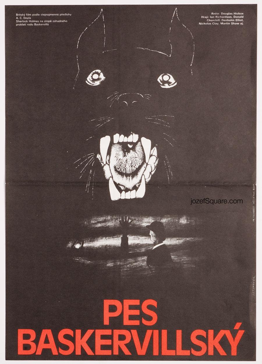Movie Poster, The Hound of the Baskervilles, Arthur Conan Doyle, Jan Tomanek