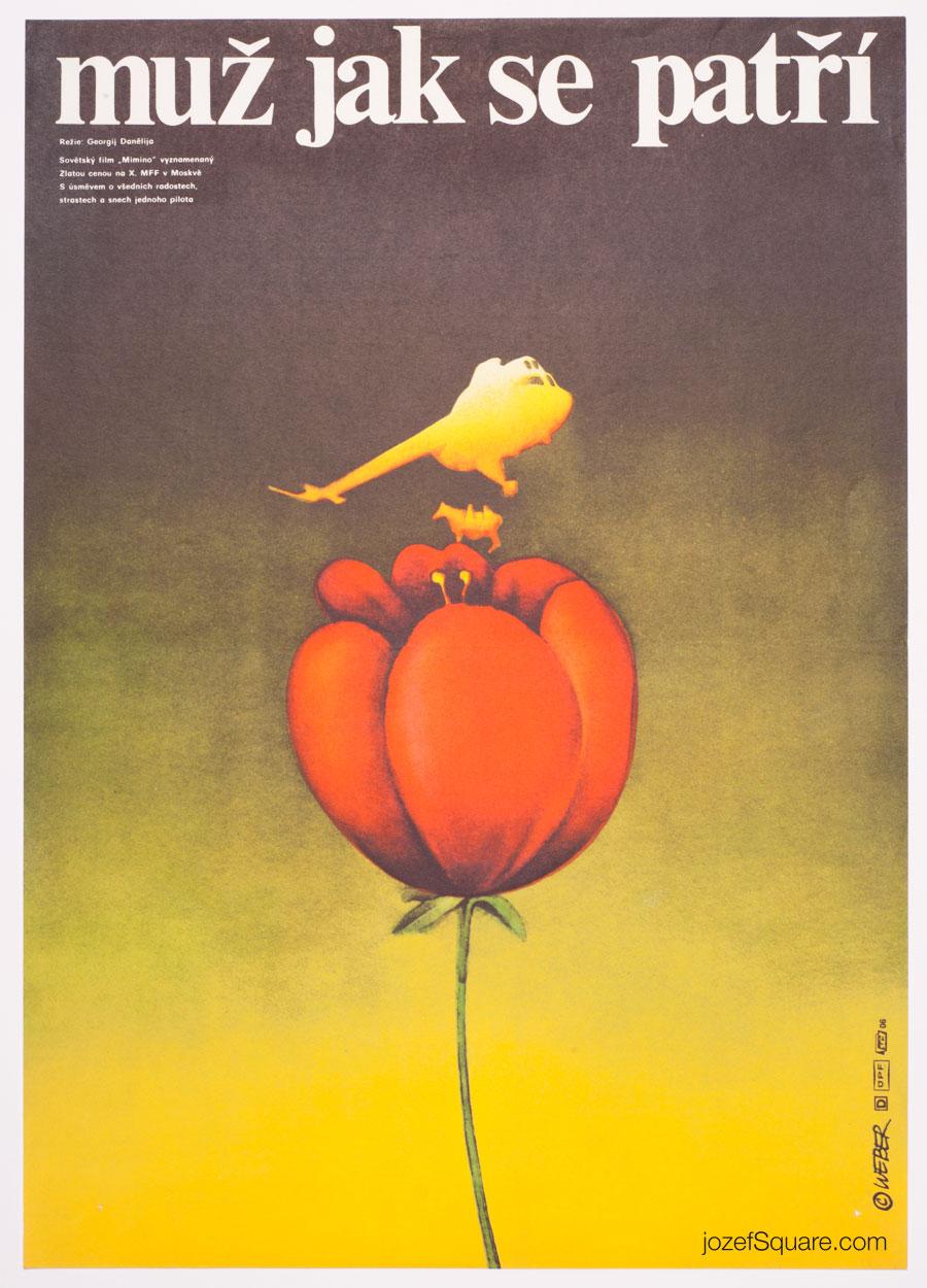 Movie Poster, Mimino, Jan Weber, 70s Cinema Art