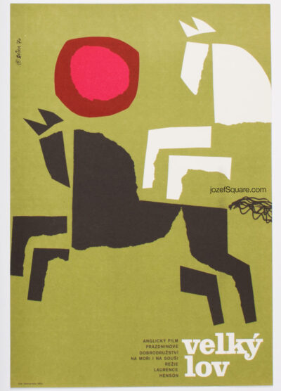Movie Poster, The Big Catch, Jaroslav Sura, 70s Cinema Art