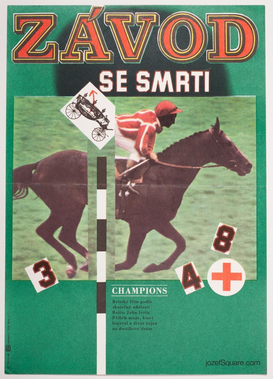 Movie Poster, Champions, Karel Vaca, 80s Cinema Art