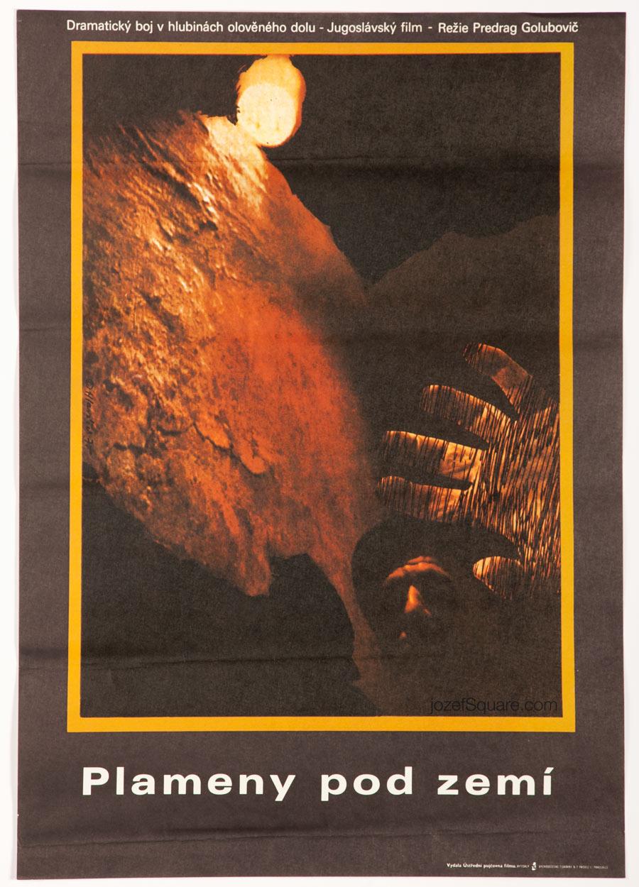 Movie Poster, Red Strike, Miroslav Hlavacek, 70s Cinema Art