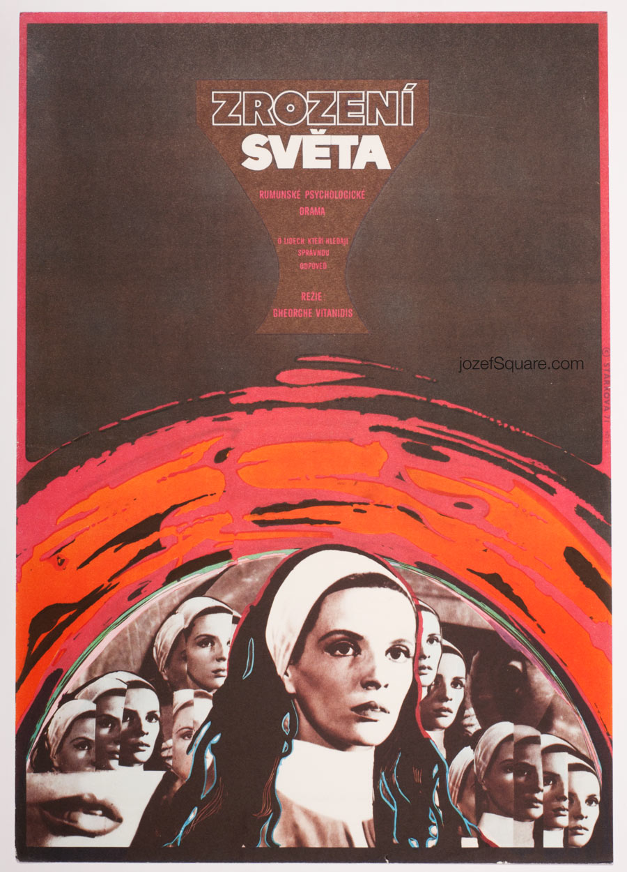 Movie Poster, Making of the World, Olga Starkova, 70s Cinema Art