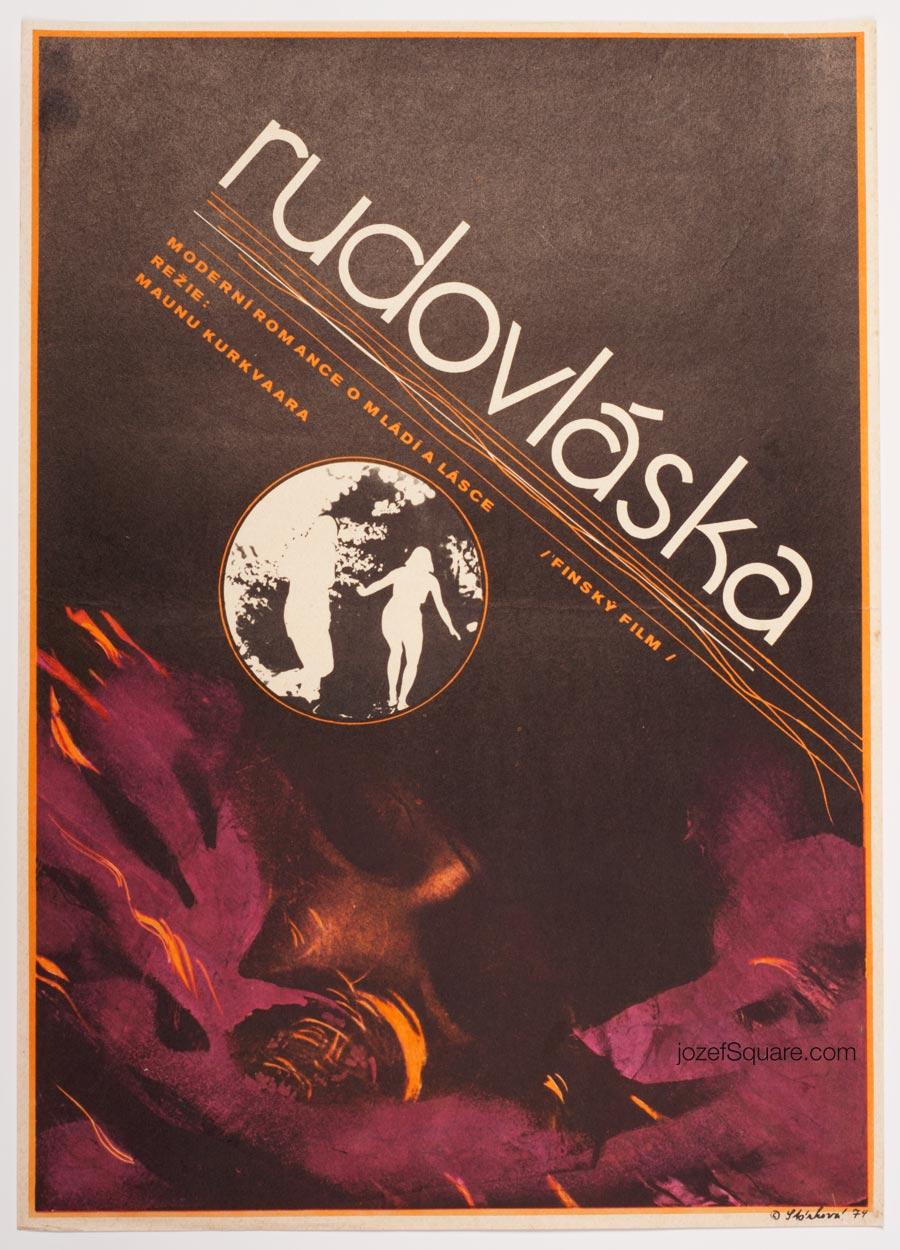 Movie Poster, Redhead, Olga Starkova, 70s Cinema Art