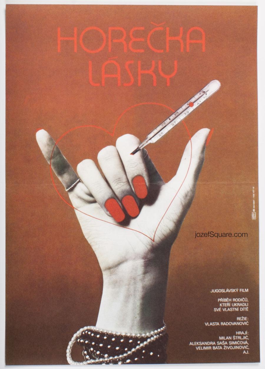 Movie Poster, Fever of Love, Petr Chalabala, 80s Cinema Art