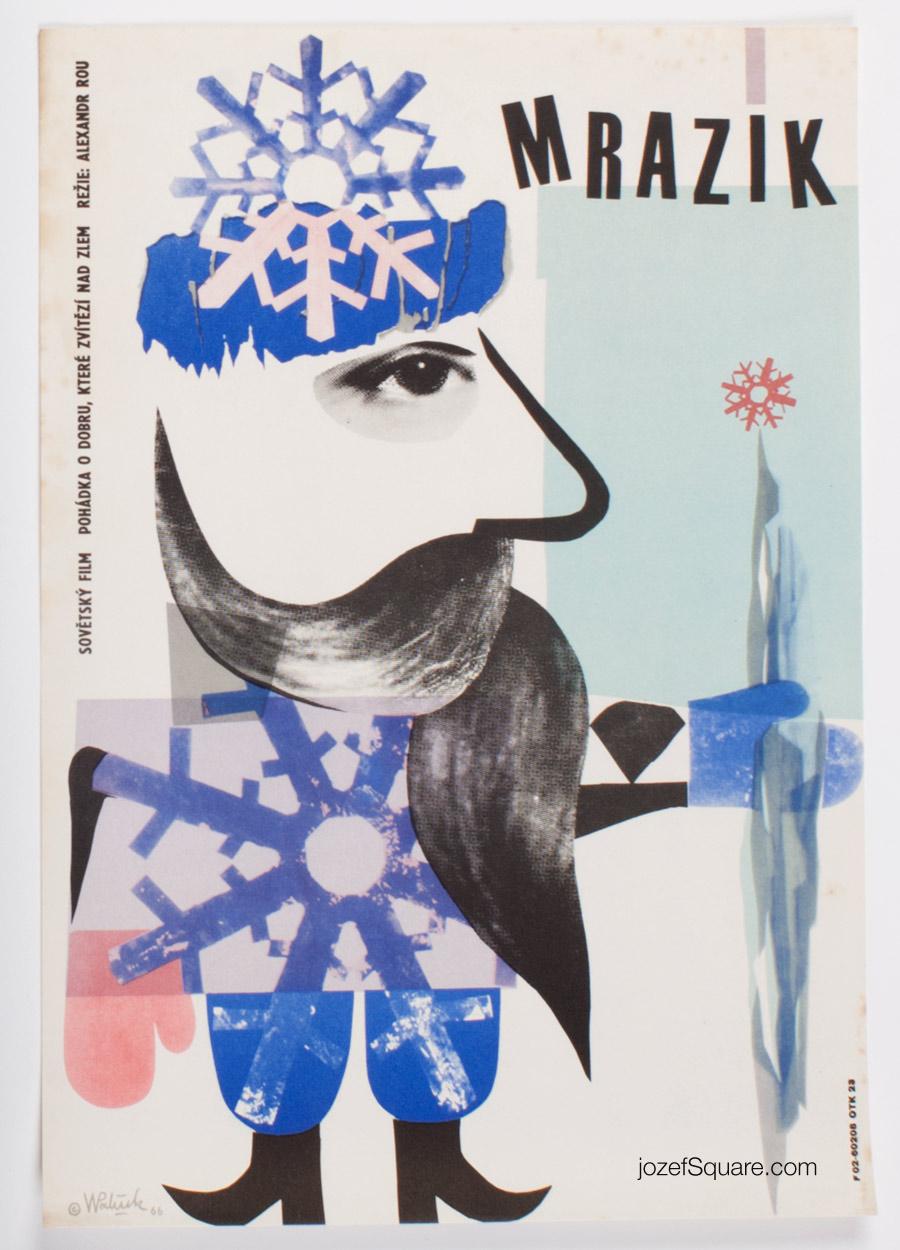 Children's Movie Poster, Frosty, Vladimir Vaclav Palecek, 60s Cinema Art