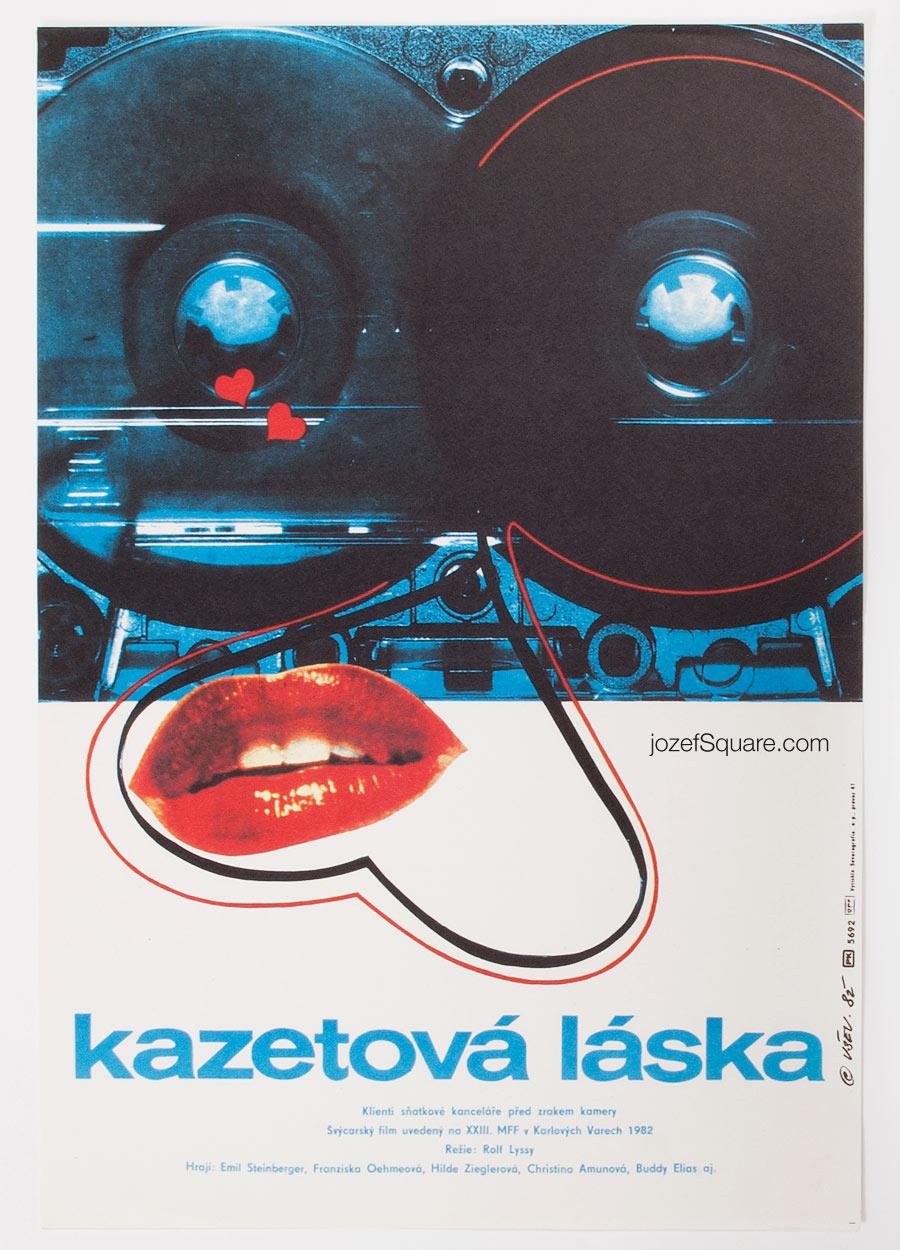 Movie Poster, Cassette Love, Vratislav Sevcik, 80s Cinema Art