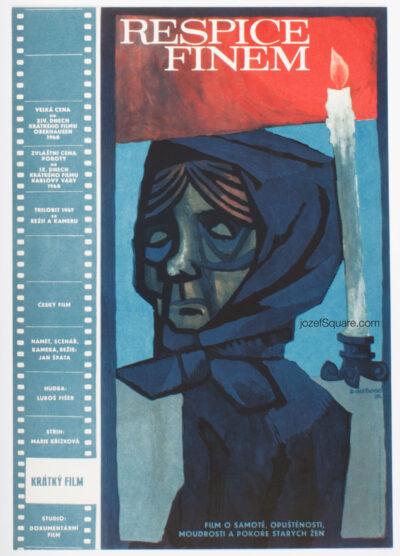 Movie Poster, Respice Finem, Zdenek Chotenovsky, 60s Cinema Art
