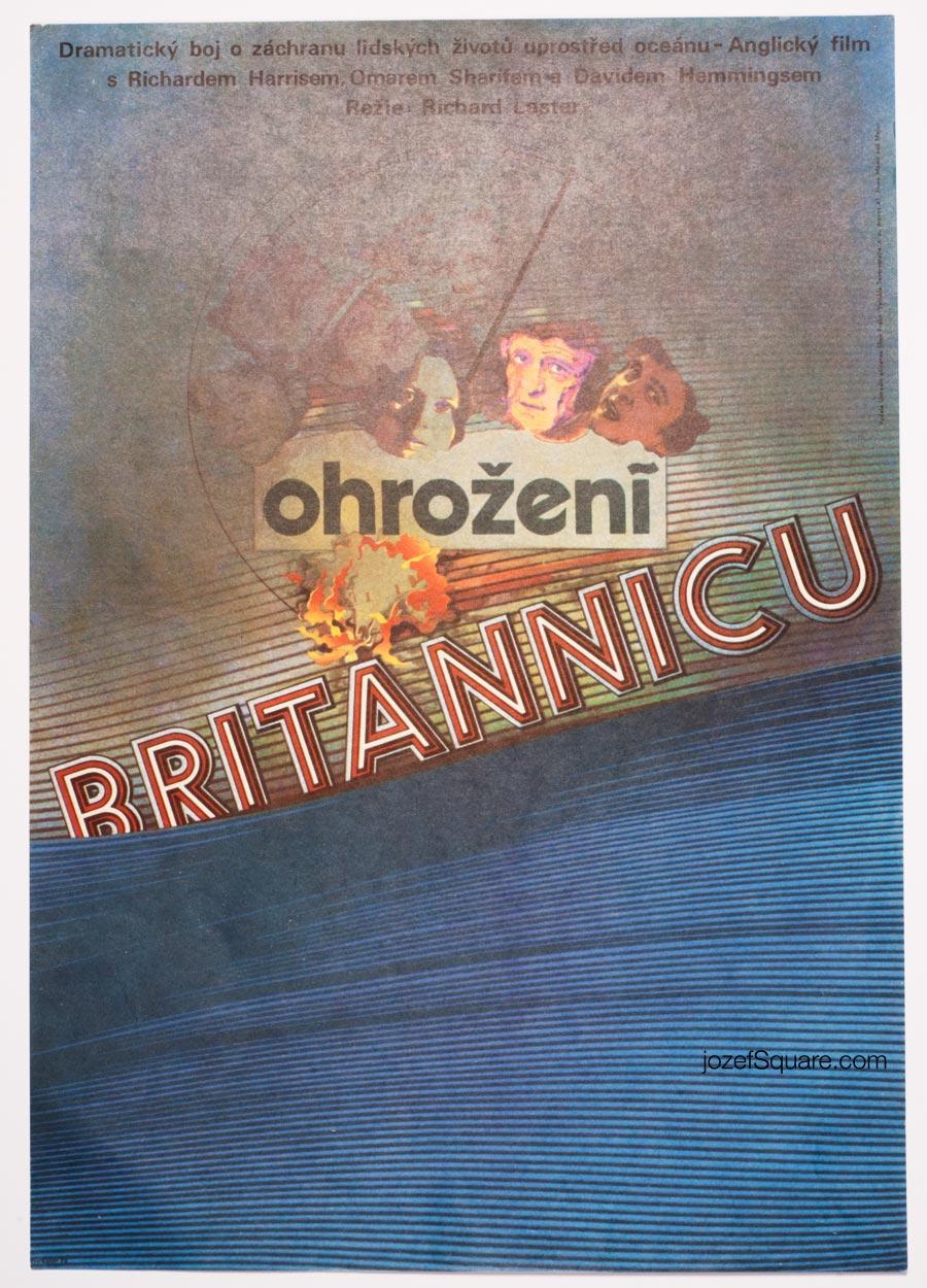 Movie Poster, Juggernaut, Richard Lester, Zdenek Ziegler