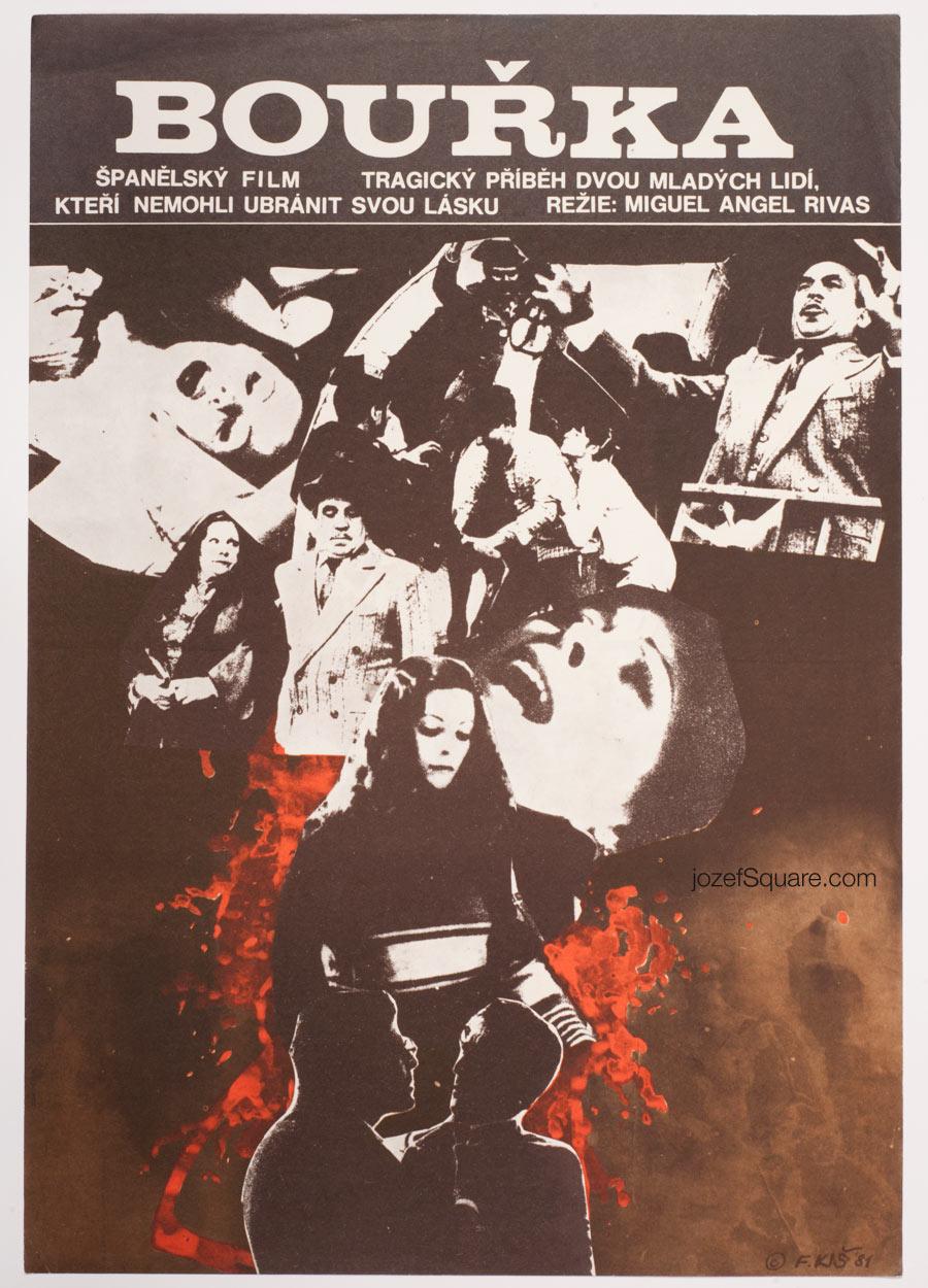 Movie Poster, Storm, Fedor Kis, 80s Cinema Art