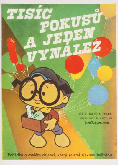 Children's Movie Poster, Anteojito and Antifaz, Vratislav Sevcik