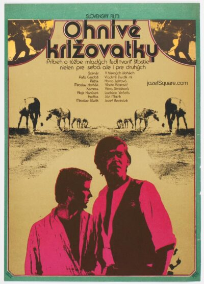 Movie Poster, Burning Crossroads, Jan Meisner