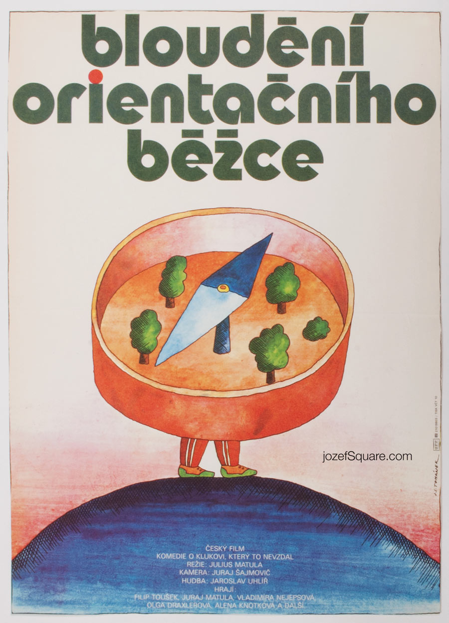 Movie Poster, Going Astray in an Orientation Course, Jan Tomanek