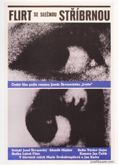 Movie Poster, Flirt with Miss Stribrna, Karel Machalek