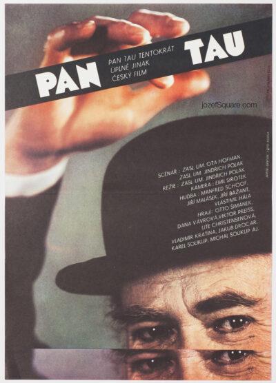 Movie Poster, Mr. Tau, Milan Grygar, 80s Cinema Art