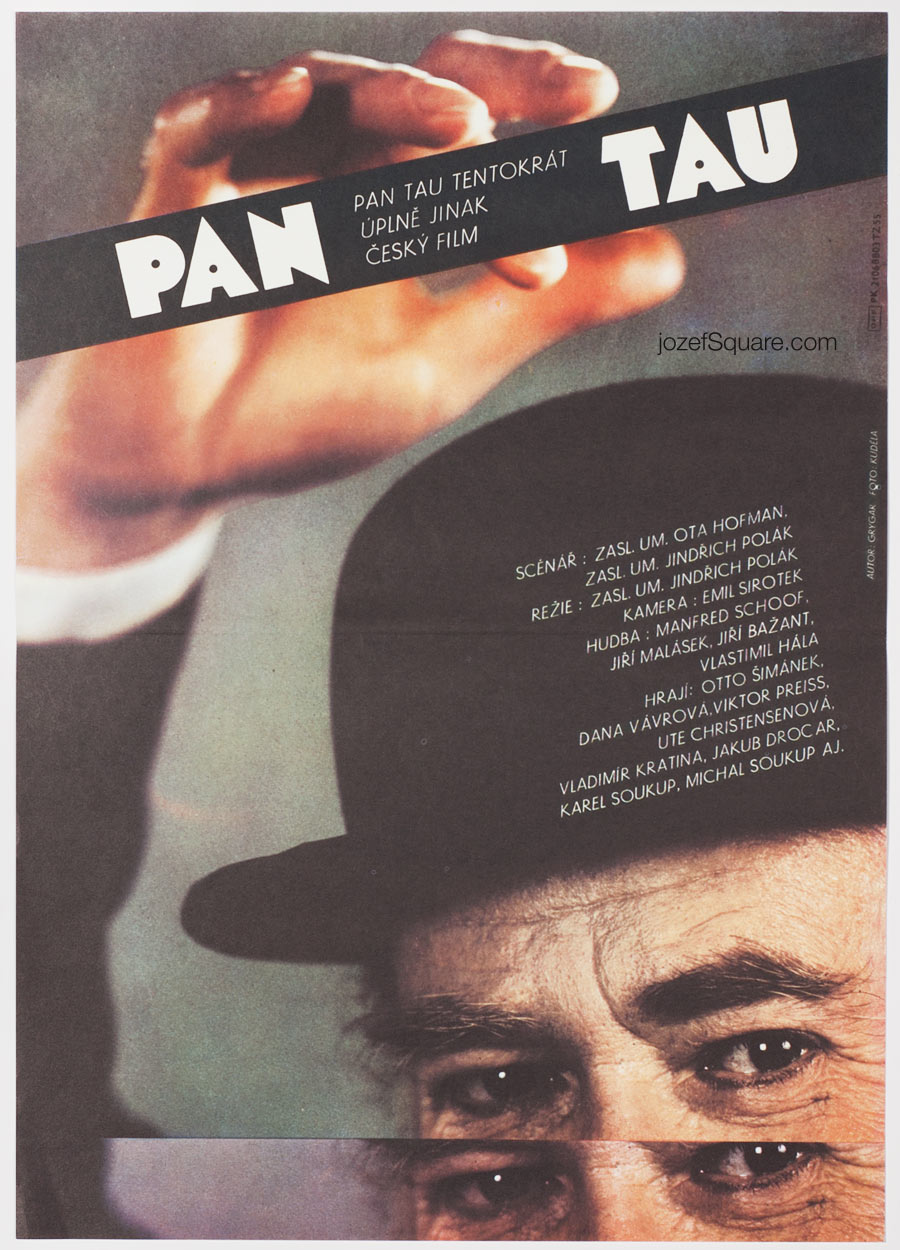 Movie Poster, Mr. Tau, Milan Grygar, 80s Cinema Art