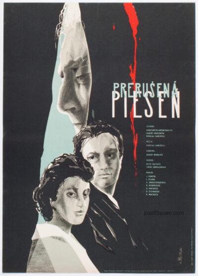 Movie Poster, Interrupted Song, Rudolf Altrichter, 60s Cinema Art