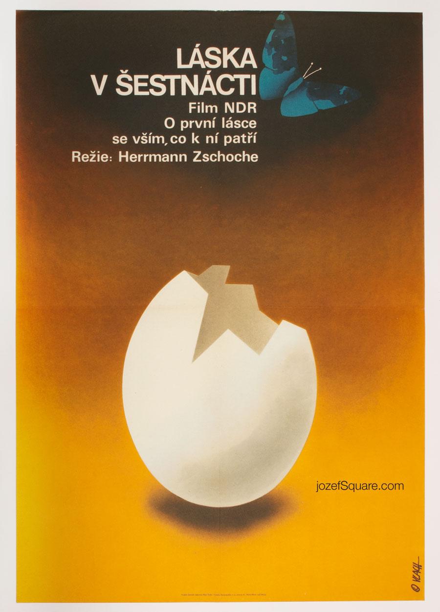 Movie Poster, Love at 16, Zdenek Vlach