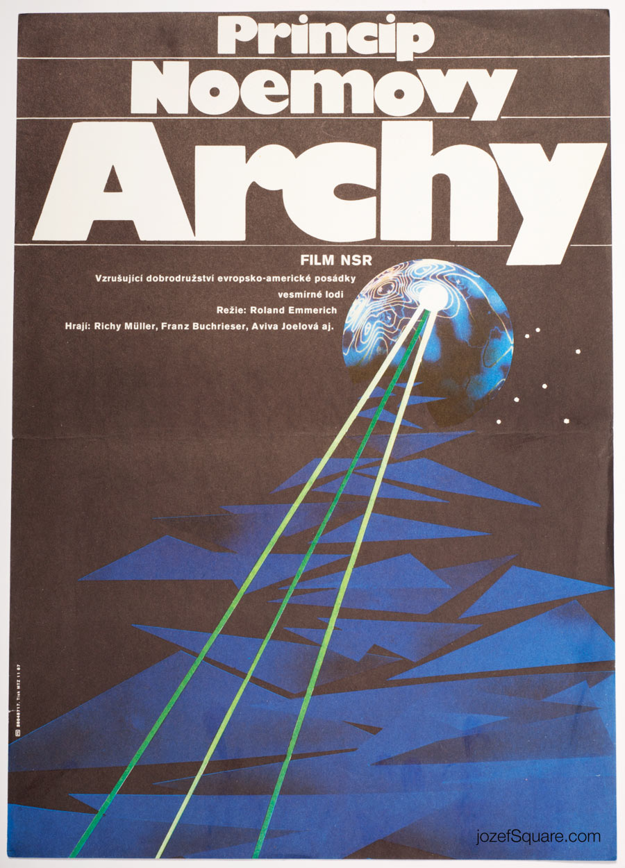 Sci-fi Movie Poster, Noah's Ark Principle, Zdenek Vlach