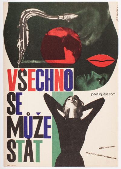 Collage Movie Poster, It's All Happening, Cenek Prazak, 60s Cinema Art