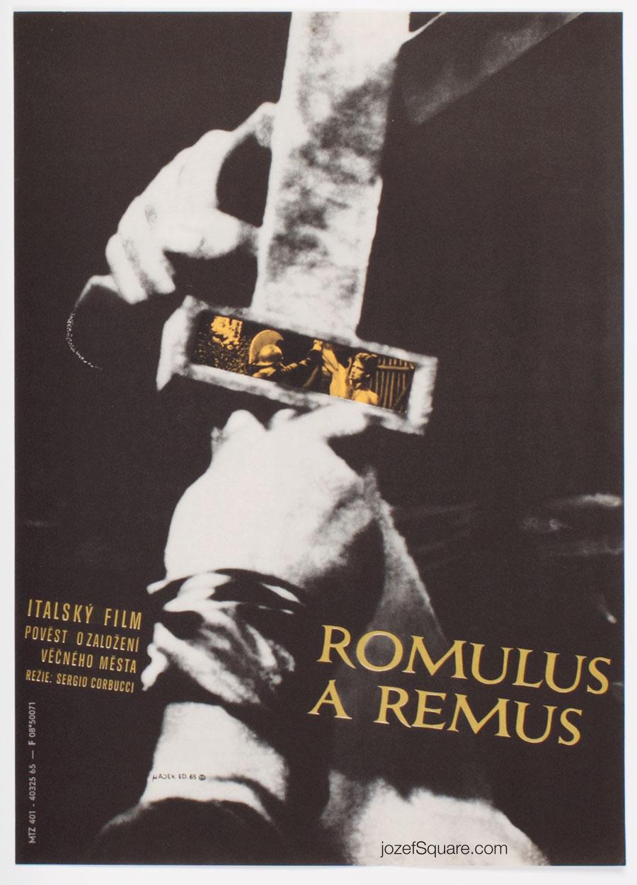 Movie Poster, Duel of the Titans, Eduard Hajek, 60s Cinema Art