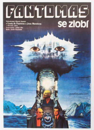Movie Poster, Fantomas Unleashed, Funes, Tomanek, 80s Cinema Art