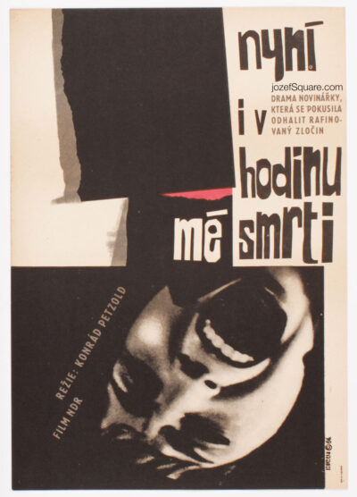 Movie Poster, Now and in the Hour of My Death, Jiri Hilmar, 60s Cinema Art
