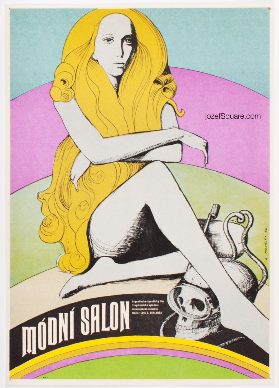 Surreal Movie Poster, The Boutique, Karel Machalek, 70s Cinema Art