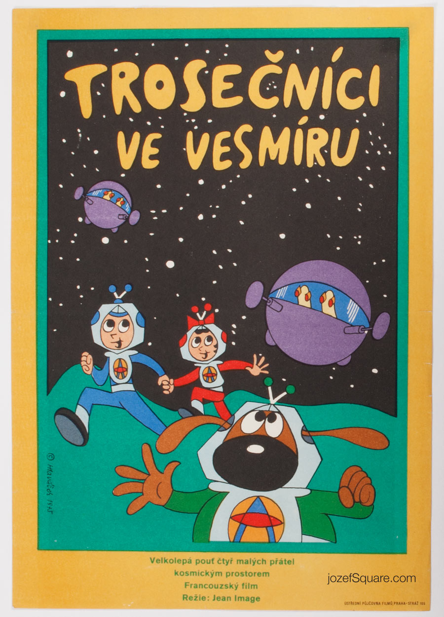 Children's Movie Poster, Little Orbit the Astrodog, Miroslav Hlavacek