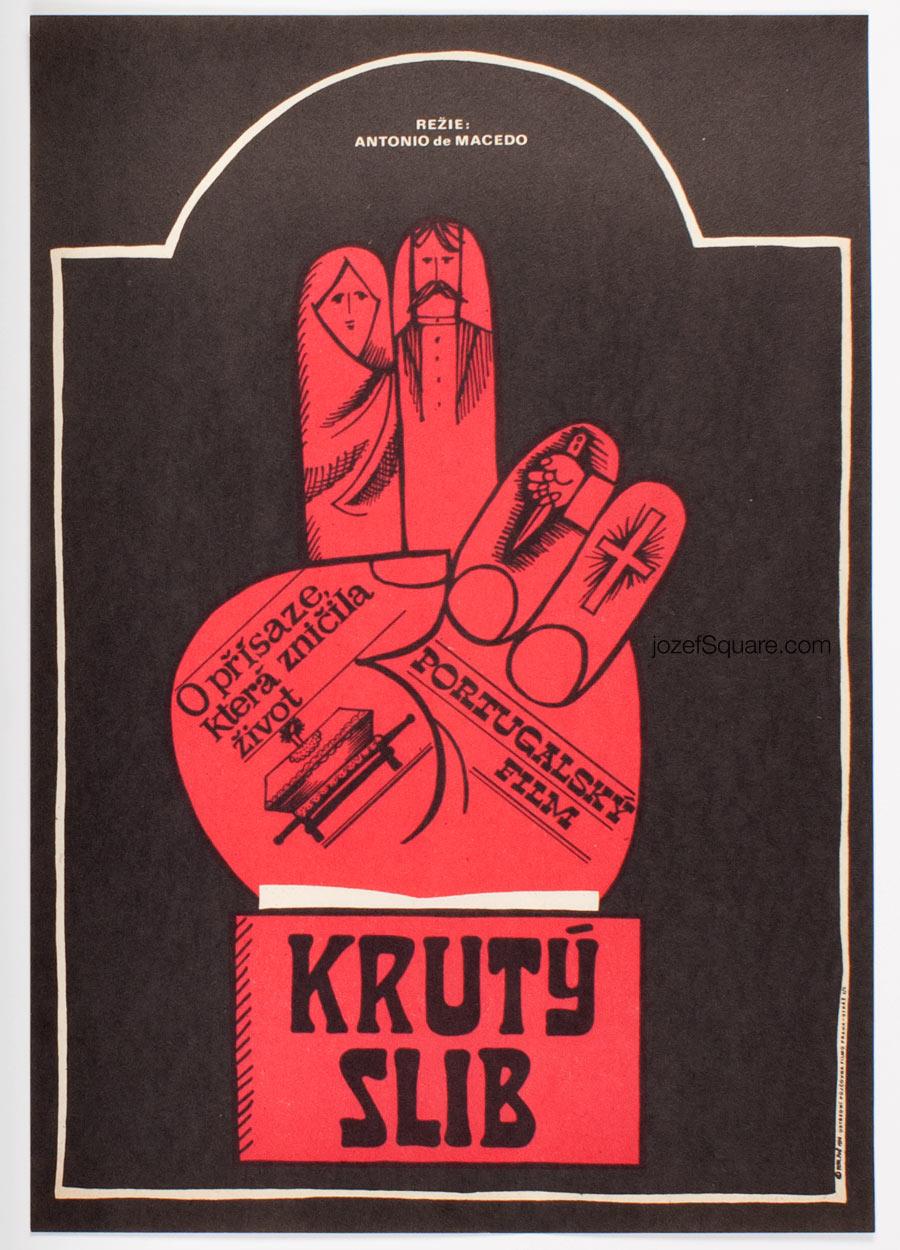 Movie Poster, Vows, Petr Pos, 70s Cinema Art