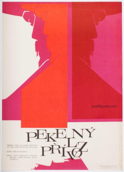 Abstract Movie Poster, Devil's Ferry, Rudolf Altrichter, 60s Cinema Art