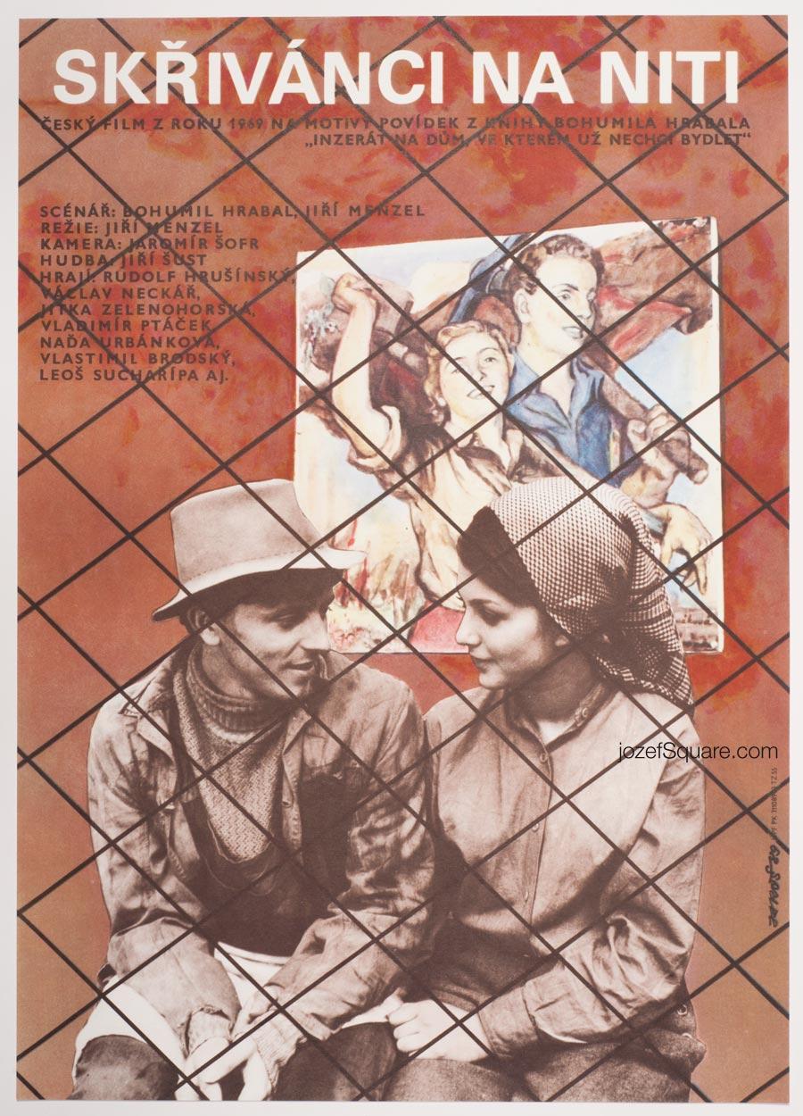 Movie Poster, Larks on a String, Jiri Hrabal