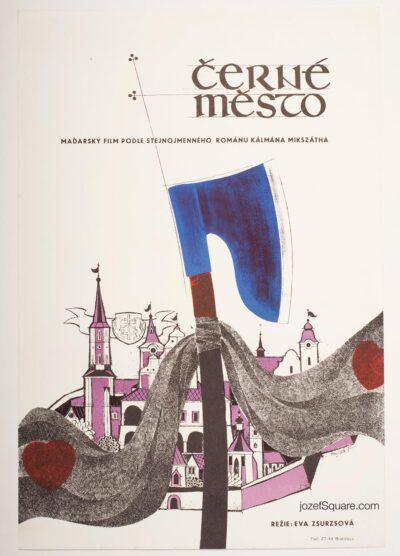 Movie Poster, Black Town, Mrozek, 70s Cinema Art