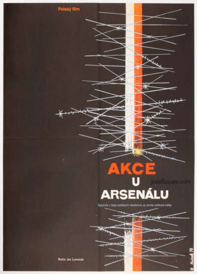 Movie Poster, Operation Arsenal, Drahomir Mrozek, 70s Cinema Art