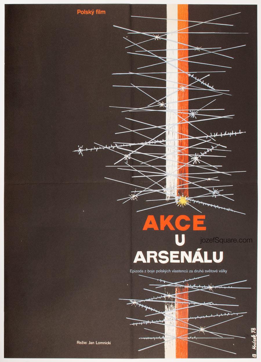 Movie Poster, Operation Arsenal, Drahomir Mrozek, 70s Cinema Art