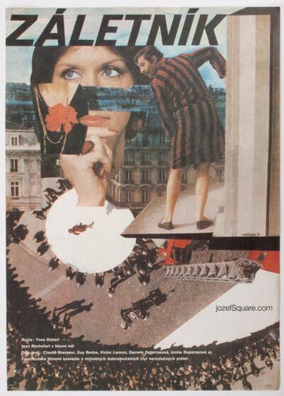 Movie Poster, Pardon Mon Affaire, Eva Hermanska, 80s Cinema Art