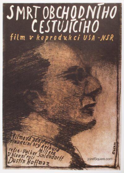 Movie Poster, Death of a Salesman, Dustin Hoffman, Jan Weber