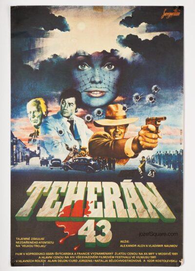 Movie Poster, Alain Delon, Assassination Attempt, Lem, 1981