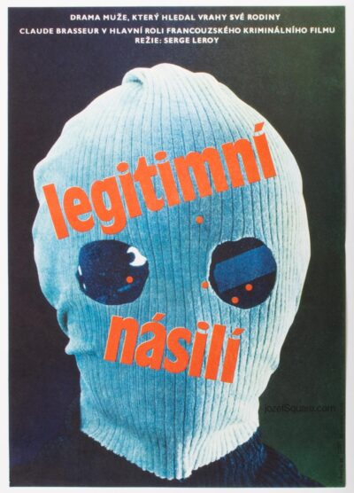 Movie Poster, Lawful Violence, Sevcik, 80s Cinema Art