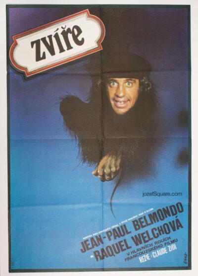 Movie Poster, Animal, Jean-Paul Belmondo, Zdenek Vlach