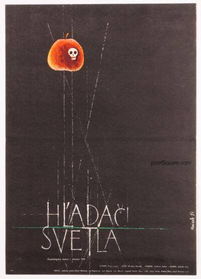 Movie Poster, Seekers of the Light, Drahomir Mrozek, 70s Cinema Art